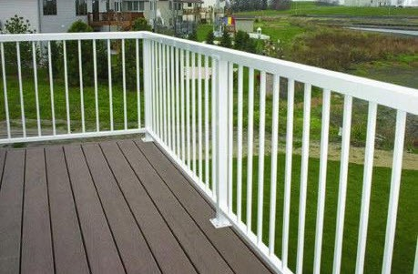 residential photo gallery exterior home deck aluminum railing
