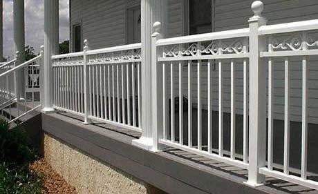residential photo gallery exterior home deck aluminum railing
