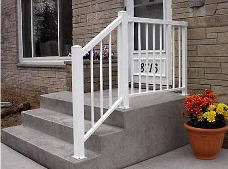 white col stair rail